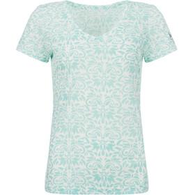 super.natural Base Print 140 T-shirt Damer, hvid/turkis